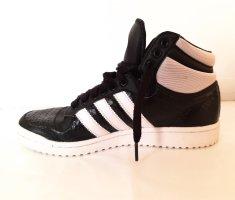 Adidas Sznurowane trampki czarny-biały Skóra