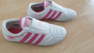 Adidas Wysokie trampki biały-różowy