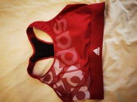 Adidas Débardeur de sport gris clair-rouge brique