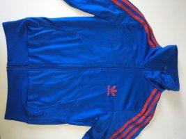 Adidas Chaqueta deportiva azul-rojo Poliéster