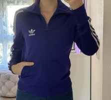 Adidas Chaqueta deportiva violeta oscuro-blanco