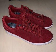 adidas stan smith Sneakers met veters donkerrood Suede