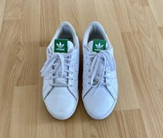 adidas stan smith Lace-Up Sneaker white-green
