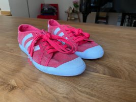Adidas Lace-Up Sneaker red-white mixture fibre