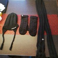 Adidas Strick Set Strickmütze, Strickschal und Handschuhe