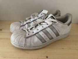 Adidas superstar Heel Sneakers white-silver-colored