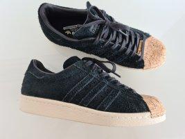 ADIDAS Superstar 80s Cork, schwarz, Echtleder, Gr.38, Retro-Sneaker