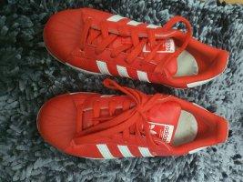 Adidas superstar Sneakers met veters rood