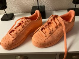 Adidas superstar Sneakers met veters neonoranje-abrikoos