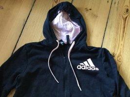 Adidas Giacca fitness nero-rosa pallido