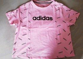 Adidas Sportshirt zwart-lichtroze