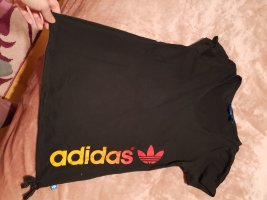 Adidas T-shirt col en V noir-orange