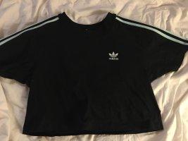 Adidas T-shirt czarny-turkusowy