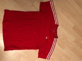 Adidas T-shirt biały-ciemnoczerwony