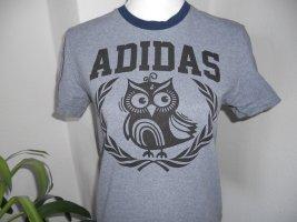 Adidas Koszulka sportowa szary-niebieski Bawełna