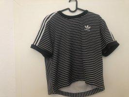 Adidas T-Shirt schwarz/weiß gestreift