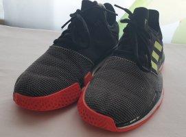 Adidas Originals Basket à lacet noir-rouge brique polyester