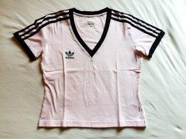 Adidas Originals V-hals shirt stoffig roze-zwart