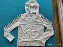 Adidas Chaqueta deportiva blanco-color plata