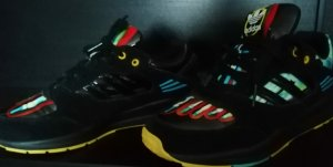 Adidas Lace-Up Sneaker multicolored leather