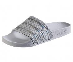 Adidas High-Heeled Toe-Post Sandals white-silver-colored