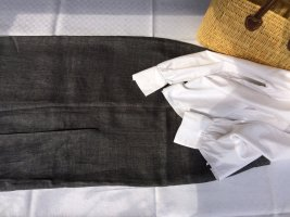 Admont Maxi Skirt dark grey-anthracite