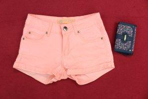 ADORO Sommer Shorty Hot Pants Damen neon apricot Gr.XS