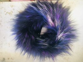 Tube Scarf black-lilac fur