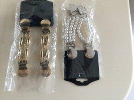 Cinturón de cadena blanco-color oro