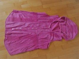 Ärmellose Weste Jacke mit Kapuze Baumwolle Gr. 46 rosa Body Needs neu