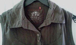 Esprit Koszulka polo brązowy-ciemnobrązowy