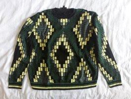 African print sweater