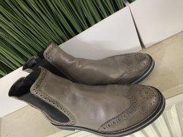 AGL Slip-on laarzen grijs-grijs-bruin Leer