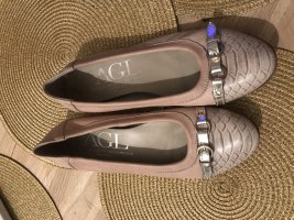 AGL Ballerinas with Toecap rose-gold-coloured-white