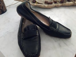 AGL Moccasins black leather