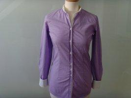 Aglini Blusa de manga larga malva-blanco Algodón