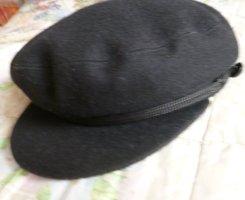 Cappello con visiera nero Tessuto misto