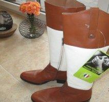 Aigle Shoes natural white-cognac-coloured leather