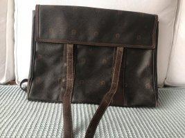 Aigner Crossbody bag black-black brown leather
