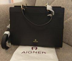 Aigner Crossbody bag black-gold-colored