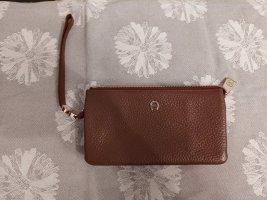 Aigner Wallet cognac-coloured leather