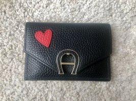 Aigner Wallet black-dark red leather