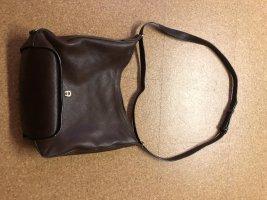 Aigner Sac Baril brun-brun foncé cuir