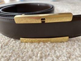 Aigner Cinturón de cuero marrón oscuro-marrón