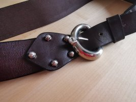 Etienne Aigner Cintura di pelle argento-marrone-nero Pelle