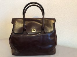Aigner Frame Bag dark red leather