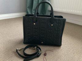 Aigner Handbag black-sand brown leather