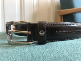 Aigner Leather Belt taupe leather