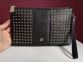 Aigner Clutch black leather