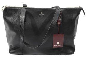 Aigner Shoulder Bag black leather